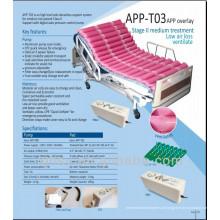 Pressão alternada TPU sobreposição colchão ventilar com bomba APP-T03