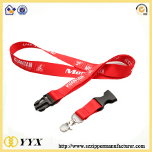 Silk-screen printing satin red lanyard