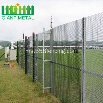 358 Keselamatan Welded Wire Mesh Accordion Fence