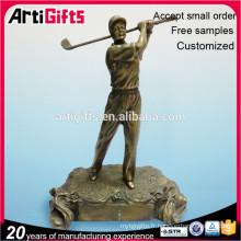Trophée promotionnel bon marché de golf en métal fait sur commande