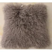 Nouvelle arrivée mongolian agneau fourrure tissu taie d'oreiller