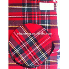 Nuevo diseño de tela de algodón teñida con hilo de Panamá para tela