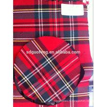 Nouveau tissu de coton de Panama teint par fil de conception pour le tissu