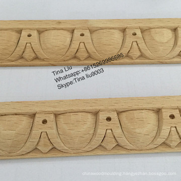 CNC Excellent Steam Beech Carved Wood Decorative Mouldings