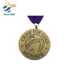 Antiker Zink-Legierungskundenspezifischer Sport des Gold3d keine minimale Medaille