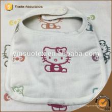 Algodón patten encantador toalla de la saliva, toalla suave de la saliva del algodón del bebé