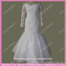 RP0085 Factory real bridal dress long sleeve off shoulder long sleeve real sexy mermaid white lace alibaba wedding dresses