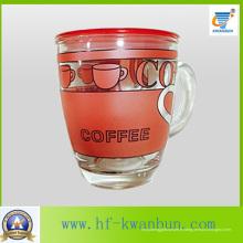 Tasse de coupe de verre Nice Decal pour café et thé