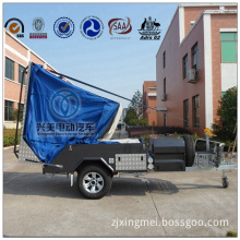 ADRs 62 off Road Backward Folding Hard Floor Camping Trailer with Checker Plate Steel Body Building (T01)
