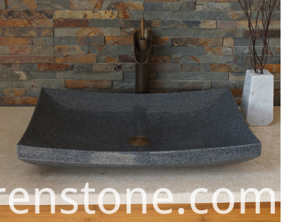 grey stone vessel sinks