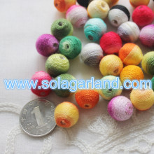 New Fashion  14MM Colorful Wool Beads Jewelry DIY Finding Beads