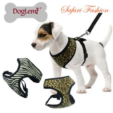Le harnais doux de sécurité d'animal familier de safari nouveau chien de conception a mené le harnais en gros petit harnais de chien.