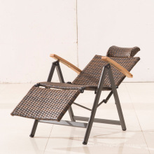 Wholesale folding adjustable easy rattan chair zero gravity for leisure time