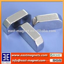High Quality Permanent Neodymium Magnet of bread Shape/custom made bridge type magnet