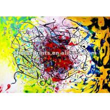Pintura abstrata livre da lona do espírito com maca
