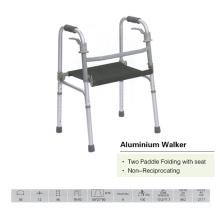 Walker pliant à deux pieds avec siège