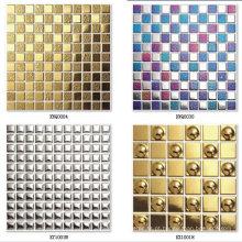 Telha de mosaico de ouro Hexigon seis