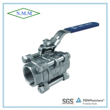 Stainless Steel Full Bore Threaded End 3PC Ball Valve in 1000wog