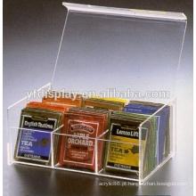 caixa acrílica de design moderno para embalagem de chá