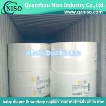 Materia prima de la pulpa de pelusa para la fabricación de los pañales del bebé