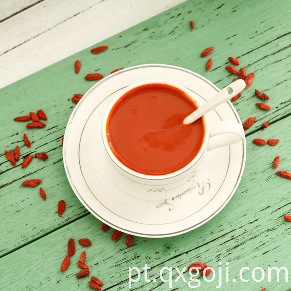 organic goji juice with nutritions