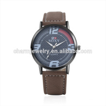 Best Selling Produkte Einfache kühle Quartz Leder Armbanduhr SOXY050