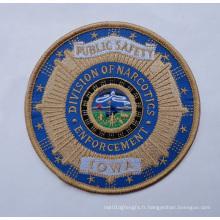 Badges tissés par sécurité faite sur commande de broderie (GZHY-PATCH-007)