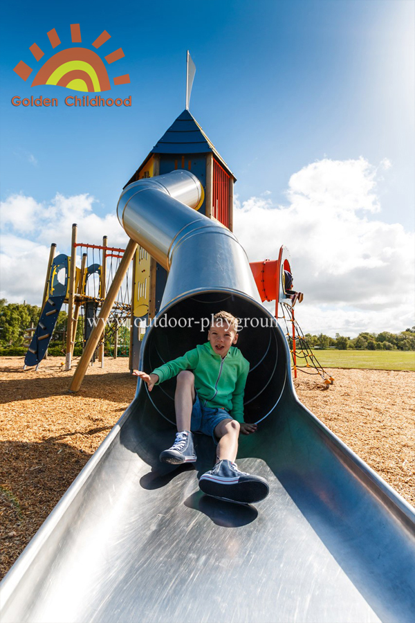 Hpl Mutiplay Outdoor Activity Tower Tube Silde Playground For Kids