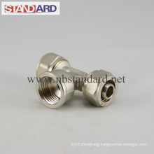 Brass Compression Fitting with Female Tee
