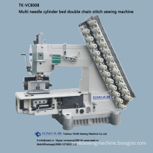 TK-VC8008 multi needle cylinder bed double chain stitch sewing machine
