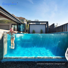 Customized clear  high transparency anti-uv acrylic pool swimming ground