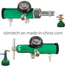 Medical Click-Style Regulators 25 Lpm Cga 540 W/Dual Diss and Barb Oxygen Regulator