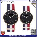 Yxl-619 kundengebundene dünne Quarz-Paar-Geliebt-Uhr / Edelstahl-rückseitige Unisexarmbanduhr