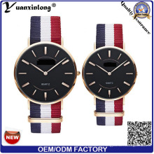 Yxl-619 personnalisé Slim Quartz Couple Lover Watch / Stainless Steel Back Unisex Watch
