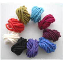 Wool/Acrylic Blended Fancy Yarn for Knitting Thick Carpet
