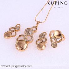 Conjunto de joyas de mujer de moda 61770-Xuping con baño de oro de 18 quilates