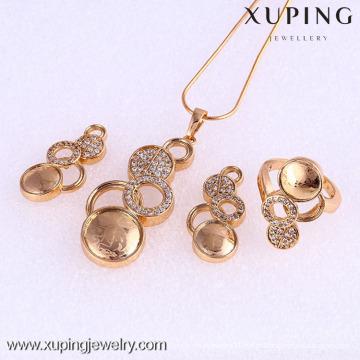 61770-Xuping Moda Mulher Jewlery Set com Banhado a Ouro 18K