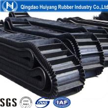 Рифленые боковины большой угол ленточный конвейер для цемента с ISO9001