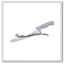 U399-2 9'' Bread Knife With White Plastic Handle