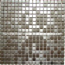 Azulejo de pared de mosaico de metal de acero inoxidable de plata (SM233)