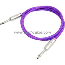 DBS Series Instrument Guitar Cable Jack to Jack Purple Braided