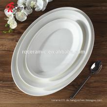 Restaurant Steingut Platten Gerichte