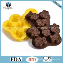 Оптовая силиконовая форма для сигар с медведем для выпечки инструментов Si23