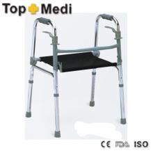 Einstellbare Höhe Leichte Elder Man Walking Aids Rollator mit Sitz