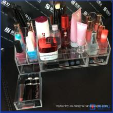 Organizador de maquillaje de acrílico de Kardashian del nuevo diseño