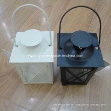 Blanco y negro Home Decor Metal Cande Holder