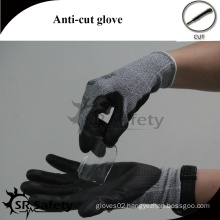 SRSAFETY green latex coated industrial cutting resistant gloves