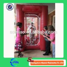Publicidade personalizada insufláveis caixa grabber máquina para venda