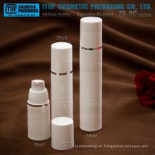 Serie de ZB-QC 15ml 30ml 50ml bomba fuerte resorte redondo cosméticos de botella bomba airless plástico PP