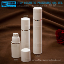ZB-QC Series 15ml 30ml 50ml out spring strong pump round PP plastic airless pump bottle cosmetics